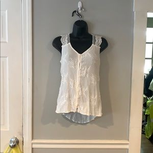 Knox Rose Blouse sleeveless Woman's XS Embroided